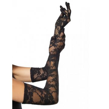 Stretch Lace Elbow Length Gloves (6Pc.Pack)