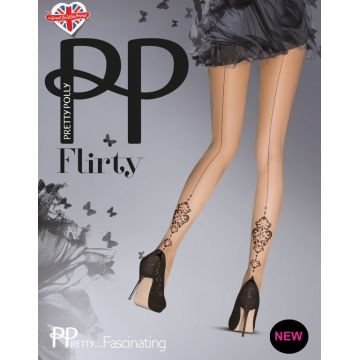 BAROQUE & EMBELLISH BACKSEAM TIGHTS