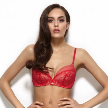 GLAMOUR LACE NON WIRED PLUNGE BRA