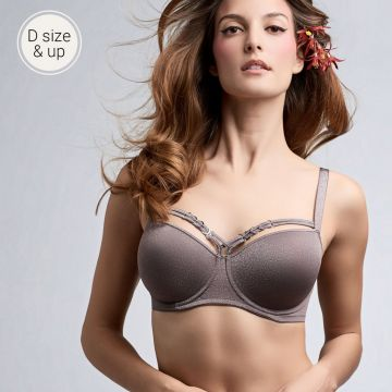Manjira wired padded plunge balcony Bra