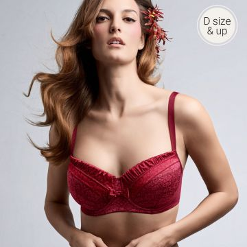 Crouching tiger wired padded balcony Bra