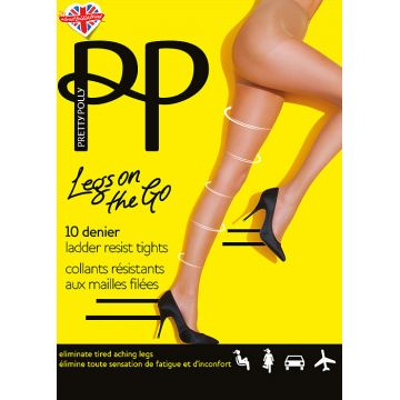 LEGS ON THE GO 10 DENIER LADDER RESIST TIGHT
