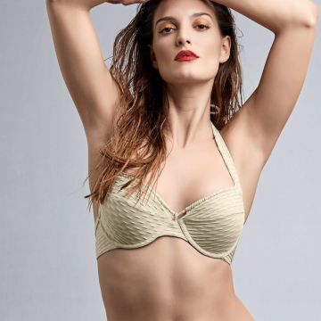 Holi vintage wired padded push up bikini top
