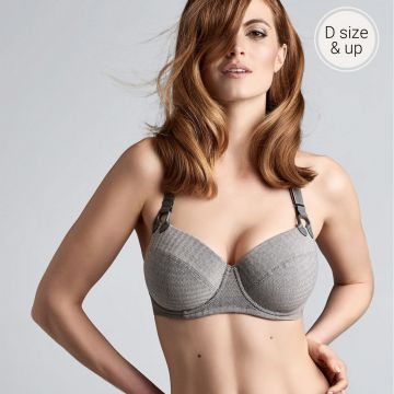 GLORIA WIRED PADDED PLUNGE BALCONY BRA