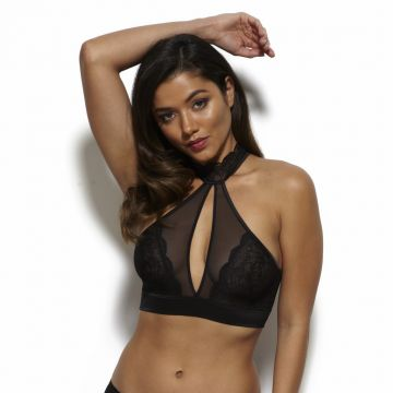 VENUS BLACK VIP HIGH NECK SOFT BRA