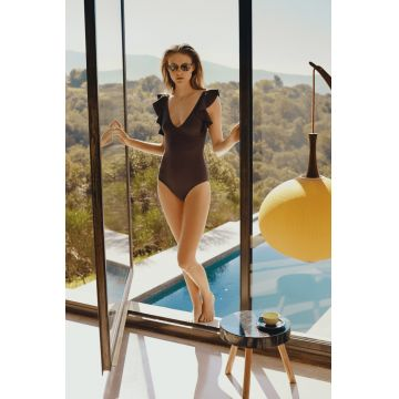 VOLANT SWIMSUIT WITH FULL-CUP