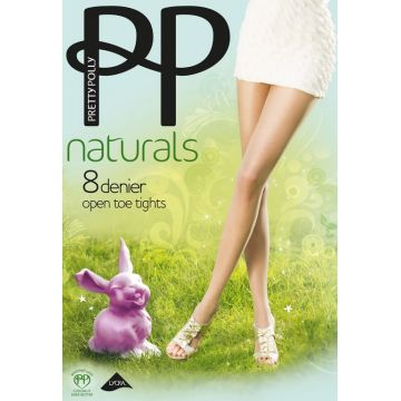 NATURALS OPEN TOE TIGHTS