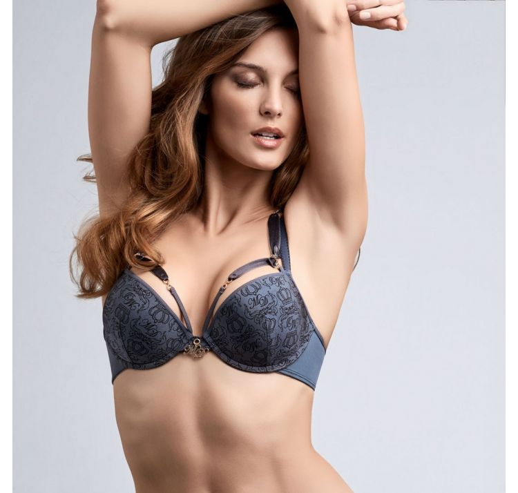 1b4aa78377d Biustonosz Marlies Dekkers The Regal Goddess push up błękitny